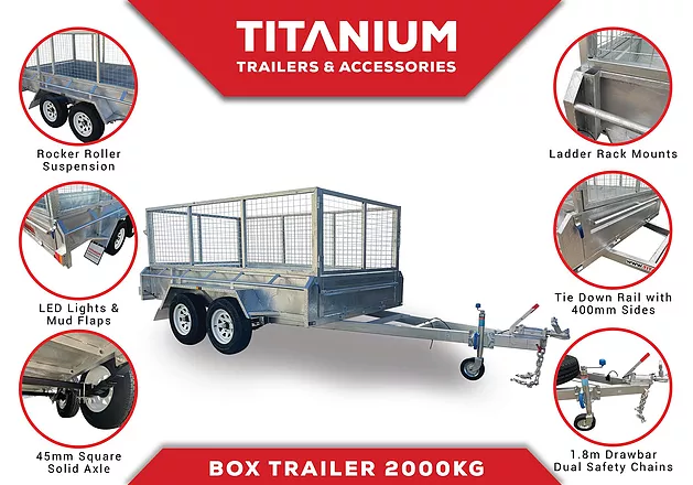 10x6 Dual Axle 2000kg Box Trailer | Titanium Trailers