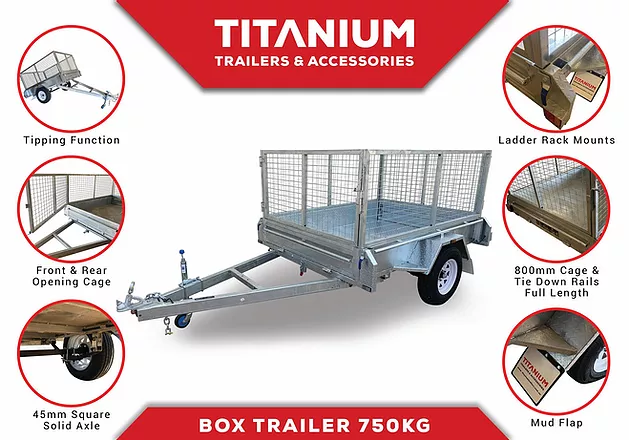 7x5 Single Axle 750kg | Titanium Trailers