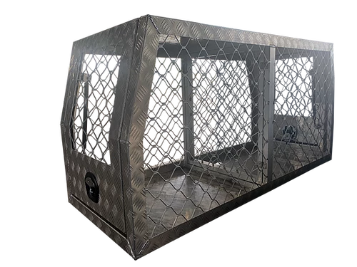 Dog Box Full Mesh 700mm - Checker | Titanium Trailers
